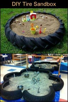 A Weekend Backyard Project Using an Old Tractor Tire. A Weekend Backyard Project Using an Old Tractor Tire. Kids Outdoor Play, Outdoor Play Areas, Kids Play Area, Backyard For Kids, Backyard Projects, Backyard Ideas, Kids Yard, Play Yard, Diy Projects