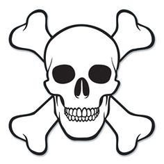 Bulk Party Supplies: Each) Skull & Crossbones Cutout - Pirate Party Decorations Decoration Pirate, Pirate Party Decorations, Skull Coloring Pages, Coloring Sheets, Skull Stencil, Free Stencils, Pirate Skull, Pirate Theme, Skull And Crossbones