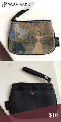 Beauty and the Beast coin purse Pre-loved, cute, & a little faded coin purse!! Disney Bags Wallets