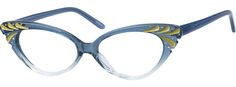 Order online, women blue full rim acetate/plastic cat-eye eyeglass frames model #187616. Visit Zenni Optical today to browse our collection of glasses and sunglasses.