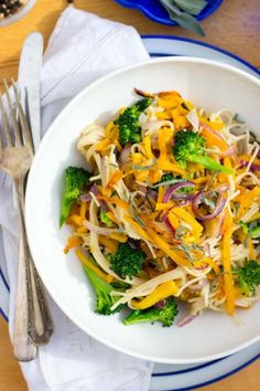 Butternut Squash & Broccoli Pasta with Sage (gluten free and vegan)