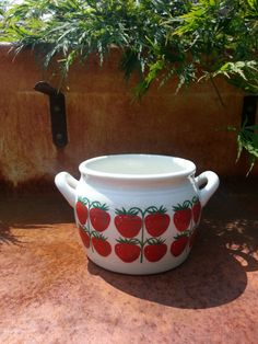 Arabia Finland Strawberry Pomona jam jar design by fcollectables, €45.00