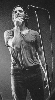His pants are so low on his hips and he is very wet. A Good Man, The Man, Sensitive Men, Jeff Ament, Pearl Jam Eddie Vedder, Music Bands, Music Is Life, Rock N Roll, Guys