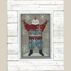 Primitive Cross Stitch Pattern  Jack by FiddlestixDesign on Etsy, $4.00