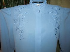 Vintage/ 60's/ 70's/ Blue/ EMBROIDERED/ by eternalVoyagersVault, $45.00