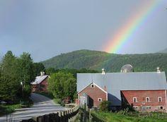 rainbow over farm on route 100