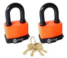 Centurion Set of 2 Keyed Alike Laminated Waterproof Padlock, Wide Body -Weather Resistant Outdoor Padlock, 4 Keys Included Body) - -. Centurion water proof padlock, an ideal high security solution for outdoor applications. Entry Door Locks, 2 Keys, Security Solutions, Protecting Your Home, Wide Body, Access Control, Personalized Items, Ebay, Amazon