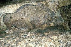 Bison, peinture polychrome, Grotte de Font de Gaume.Les Eyzies. Dordogne. Aquitaine Monuments, Lascaux, Dordogne, Iron Age, Indigenous Art, Parcs, Ancient Art, Fossils, Rock Art