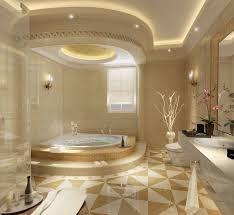 False Ceiling Lights On Jacuzzi Area In Luxury Bathroom QualQuest