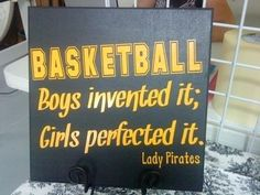 Personalized Girl's Basketball Sign. $27.50, via Etsy. Or you could make it yourself- canvas and paint!