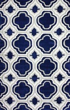 Rugs USA Keno Trellis ACR199 Navy Rug Modern, blue, home decor, interior design, style, home, house, decor, area rugs, modern, contemporary, pattern.