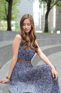 M Loves M: super cute abstract chevron print dress