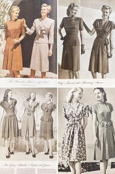 Early 1940's dress ad.