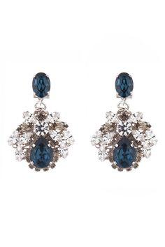4.) Something blue {earrings / rent the runway} #modcloth #wedding