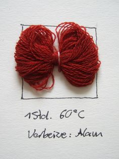 colouring wool with Rubia tinctorum Natural Dyeing, Fibres, Colouring, Crochet, Wool, Tie Dye, Canvas, Loom Knit, Interview