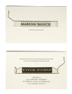 costume designer business cards - Google Search