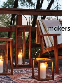 As the sun starts to set, candle lanterns instantly create romantic ambience for dining or relaxing.
