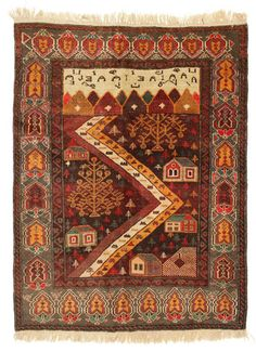 Baluch carpet SER1 171x130 cm from Afghanistan - Buy your carpets at CarpetVista.com
