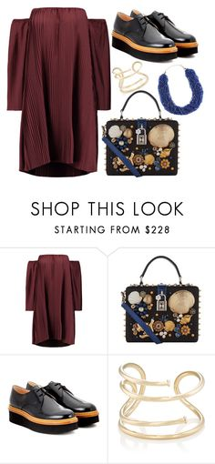 """Untitled #2218"" by meryem-mess ❤ liked on Polyvore featuring W118 by Walter Baker, Dolce&Gabbana, Tod's, Jennifer Fisher and John Lewis"