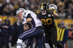 e54ee3eee TJ Watt sacking cry baby shady during A 2018 Regular Season game between  the Pittsburgh Steelers and the New England Patriots on December