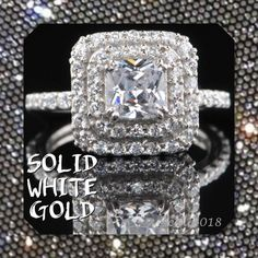 ‼️2NITE ONLY🆕 3.35ct Simulated Diamond 14K Solid This Beautiful Simulated Diamond Engagement Ring is made out of Solid 14KT WHITE GOLD. This Man-made Round Shape / CUT Diamond Looks Much Better Than a Real Diamond Because It Has an Excellent Cut, D Color and VVS1 Clarity. Total Carat Weight = 3.35 Carat  Size: 7 (can be resized) Metal: Solid White Gold Type = Man-Made/Simulated Diamond Stamp = 14KT Man-Made Diamond Color = D  Country of Manufacturer = INDIA Man-Made Diamond Clarity…