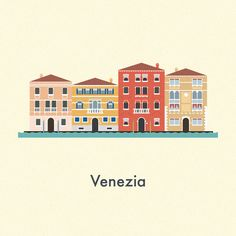 Vector Cities | Gloria Ciceri || Illustration, City, House, Venice, Venezia, Italia, Italy, Graphic Design