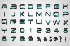 3D LETTERING pack#3 by xivi on Creative Market
