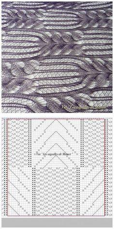 Lace knitting pattern stitch chart