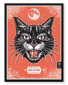 The NPR Phoenix 2016 is part of Arrow tattoos Meaning Words - Two color poster by Jon Arvizu Made in USA Frame Not Included Halloween Friday The 13th, Halloween Cat, Disfraz Up, Hand Kunst, Creepy Cat, Kunst Poster, Hand Art, Vintage Artwork, Vintage Cat