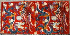TIBETIAN PHENIOUX CARPETS | Red Dragon Phoenix Carpet - Dharmashop.com