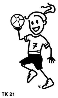 Handball Family Car Stickers