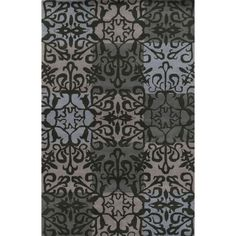 Rizzy Home / Burgundy Pierre Collection 100-percent Hand-Tufted Accent Rug