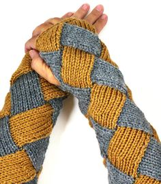 Knit Arm Warmers Knit Fingerless Gloves Knit by Nothingbutstring. Pretty! Could be cool in other color combinations.