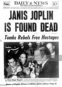 View and license Janis Joplin 1970 pictures & news photos from Getty Images. Janis Joplin, Newspaper Headlines, Old Newspaper, Newspaper Article, Acid Rock, Rock Roll, Jimi Hendricks, New York Pictures, Drame