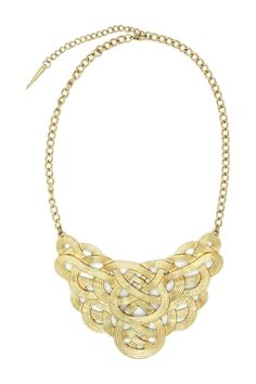 Eye Candy Los Angeles - Gold Knotted Bib Necklace at Nordstrom Rack. Free…