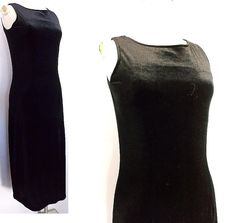 Caslon Dress Size XSmall Velvet Sleeveless Jumper Bodycon Stretch Career Black #Caslon #Maxi #LittleBlackDress