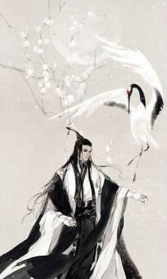 anime of ancient China Art And Illustration, Botanical Illustration, Chinese Painting, Chinese Art, Fantasy Kunst, Fantasy Art, Character Sketches, Character Art, Chinese Drawings