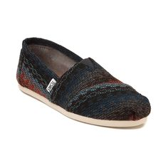 <p>Set yourself apart from the crowd with the Southwestern inspired new Classic Stripe Slip On Casual Shoe from TOMS. Tackle this season with the adventurous appeal of these Striped Classics, featuring a cozy, striped woven upper in warm, seasonal colorways, and classic heel logo patch.</p>  <p><u>Features include</u>:</p> <ul> <li> Soft woven textile upper with breathable canvas lining</li> <li> Elastic gore for...