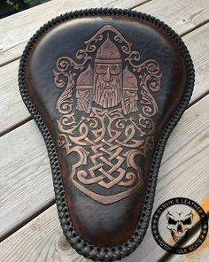 Dyrvik's Leather - Saddle and leather crafts 2019 Motorcycle Seats, Motorcycle Leather, Bike Seat, Leather Carving, Leather Tooling, Tooled Leather, Leather Crafts, Leather Projects, Custom Motorcycles