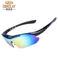 efce91e92842b Cycling Glasses 5 Lens Windproof Anti-fog with Mypia Frame Sport MTB Bike  Bicycle Polarized