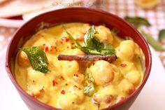 Kadhi Pakodi/Chickpea Dumplings in Yogurt Soup - Playful Cooking Yogurt Soup Recipe, Crockpot Recipes, Cooking Recipes, Yummy Recipes, Healthy Recipes, India Food, Bowl Of Soup, Dumplings, Soups And Stews
