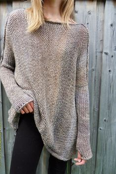 For full info about the sweater please click More button at the end of description page. Copyright © 2013-2017 Lerosse. All rights reserved. Slouchy / Oversized knit tunic. Loose knitted, relaxed fit. Made of Italian yarn 40% Alpaca, 40 % Wool , 20 % Acrylic Color is marbled beige and