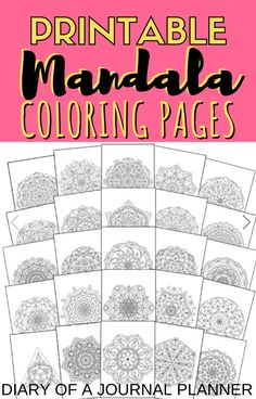 Practice mindfulness and relaxation with these stunning mandala coloring sheet for adult coloring in! Colouring Sheets For Adults, Coloring Pages For Grown Ups, Free Adult Coloring Pages, Free Coloring Sheets, Coloring Pages For Kids, Quote Coloring Pages, Mandala Coloring Pages, Printable Coloring Pages, Coloring Books