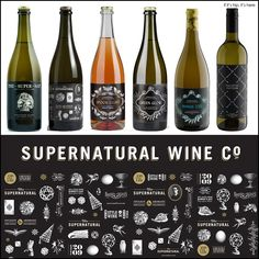 Millar Road's Supernatural Wine Company Branding and Design is fab. See it all at http://www.ifitshipitshere.com/millar-roads-supernatural-wine-company/