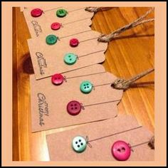 Button Baubles Christmas Gift Tags