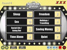 Baby Shower Game Family Feud Gender Neutral Unisex Trivia Powerpoint Game Mac and PC Compatible Shower Feud Fun Baby Shower Games Baby Shower Songs, Fun Baby Shower Games, Baby Games, Baby Shower Themes, Baby Shower Gifts, Unisex Baby Shower, Boho Baby Shower, Family Feud Game, Family Games