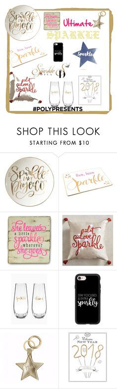 """#PolyPresents: Sparkly Beauty"" by bsopke ❤ liked on Polyvore featuring beauty, Prima Design, Rosanna, Pier 1 Imports, Casetify, Tops Malibu, PBteen, contestentry and polyPresents"