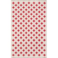 Topanga Lucille Reversible Handwoven Flatweave Wool Ivory/Red Area Rug