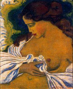 By Aristide Maillol, 1898 . Aristide Joseph Bonaventure Maillol – was a French Catalan sculptor, painter, illustrator. Influenced by Guiguin. Art And Illustration, Illustrations, Art Français, Figurative Kunst, Post Impressionism, Vintage Artwork, Western Art, Figure Painting, Erotic Art