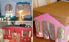 Récupérez vos vieilles nappes en tissus, pour fabriquer une cabane pour enfants! - Partout A Tiss - Blog de couture & Do It Yourself